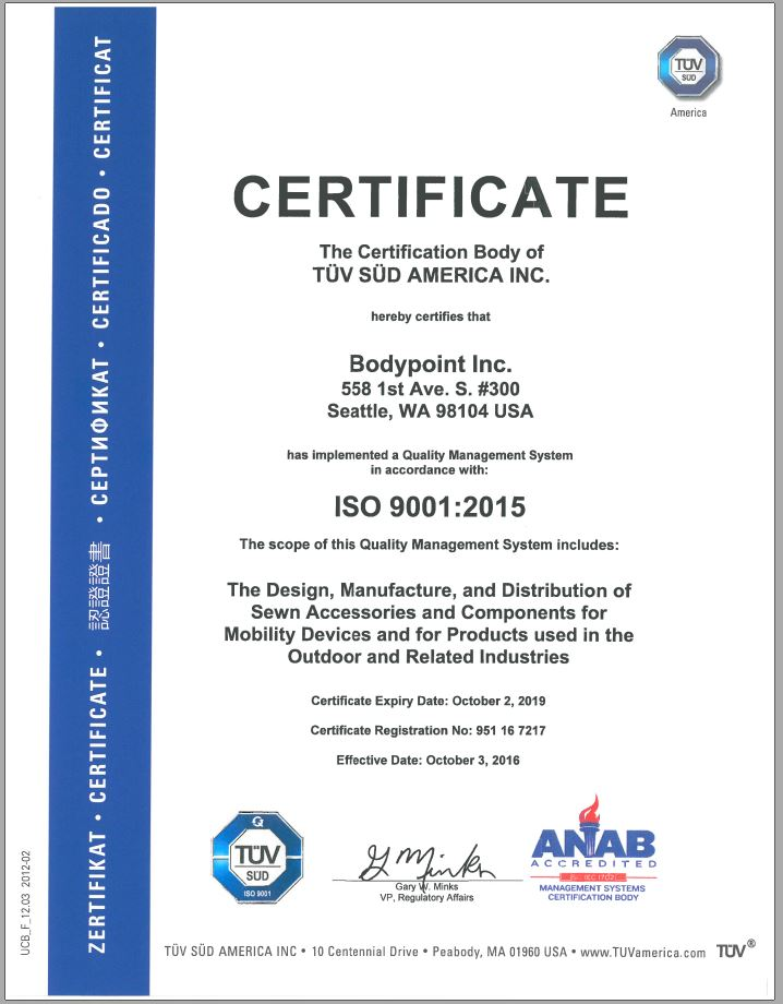ISO Certification | Bodypoint