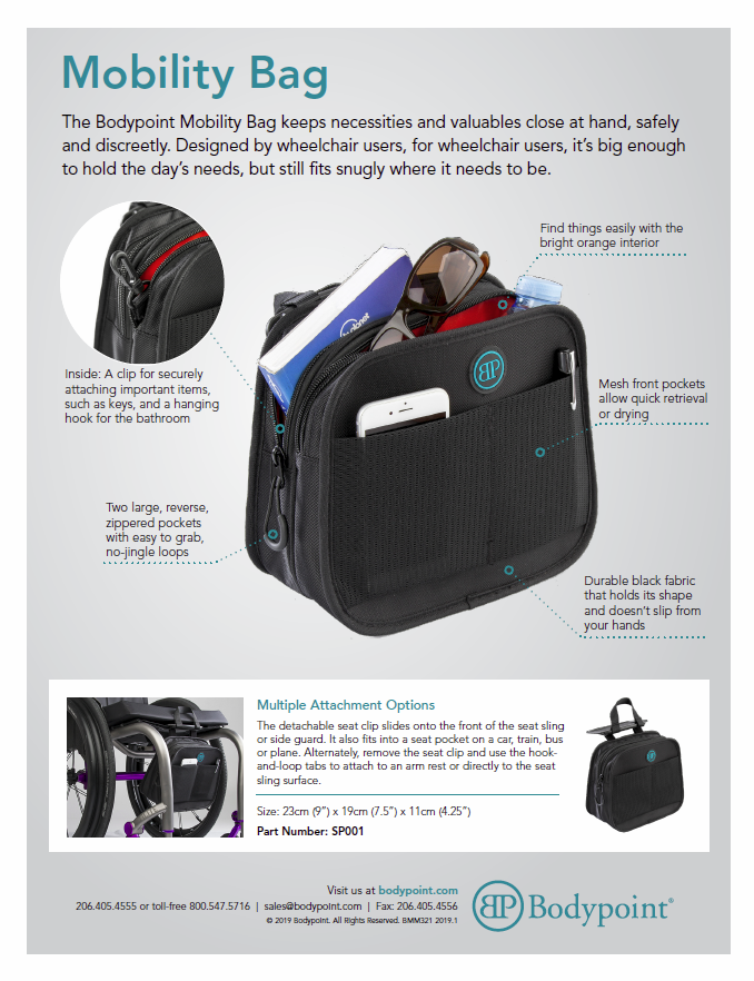 Mobility Bag Sell Sheet