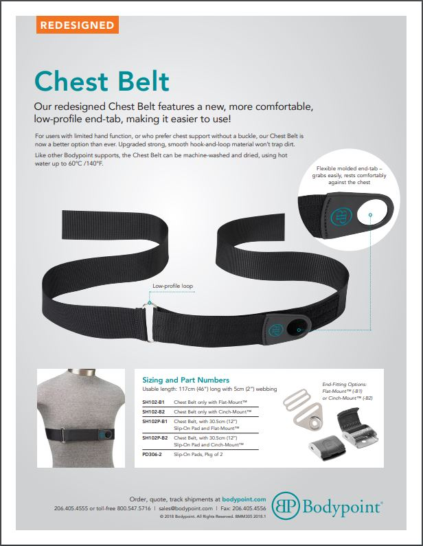Chest Belt Sell Sheet