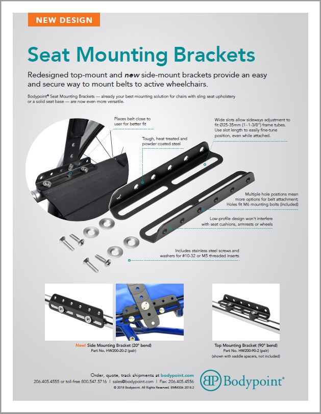 Seat Mounting Bracket Sell Sheet